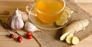 infusion de jengibre ajo y limon